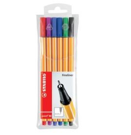 MARCADOR STABILO POINT 88 FLUO X 6 COLORES